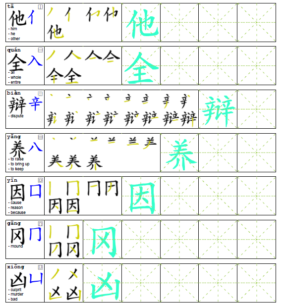 Arch Chinese offers a variety of worksheets for you to practice ...