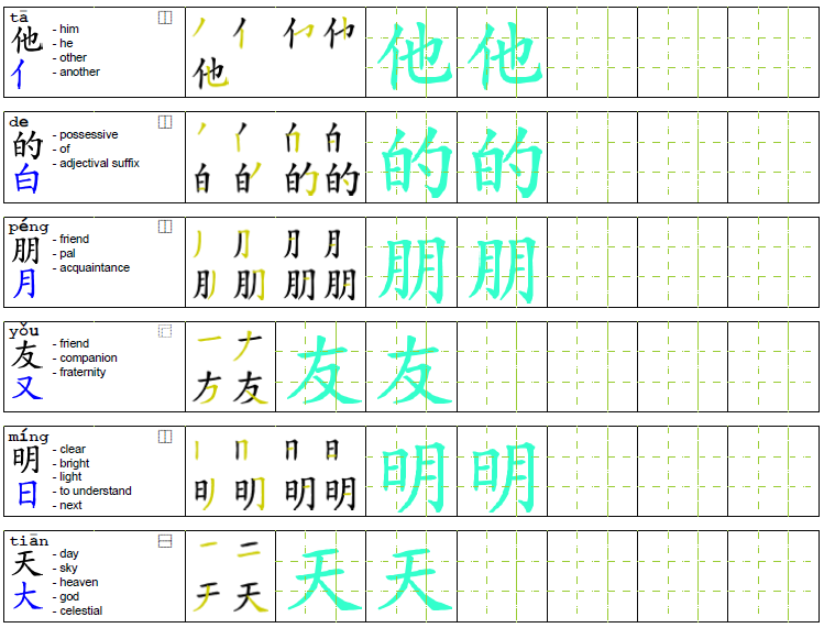 "chinese writing sheet 汉字书写练习方格纸 chinese character writing sheet one thought on "" chinese worksheets "" bestclair says: february 15, 2018 at 9:17 am."