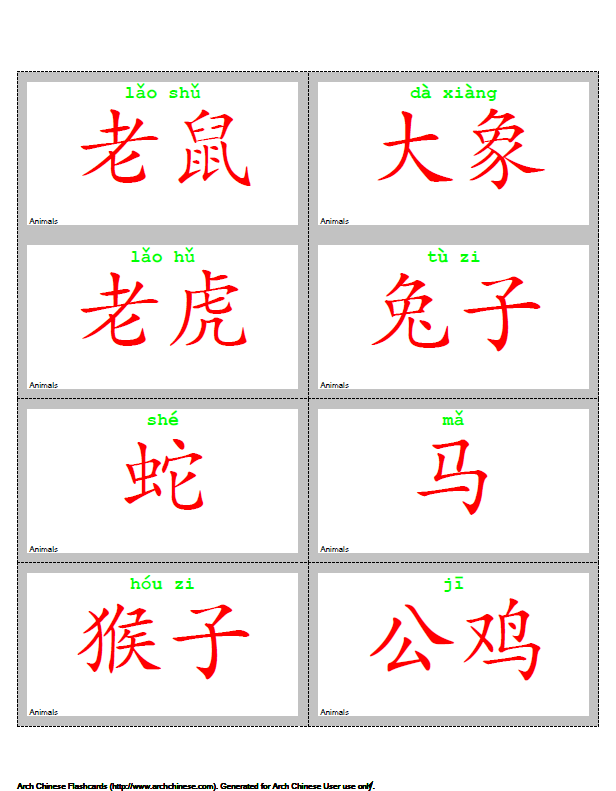 Arch Chinese Mandarin Chinese Flashcard Maker